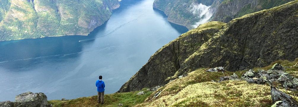 The view from Prest, Aurlandsfjord, Sogn og Fjordane, Norway