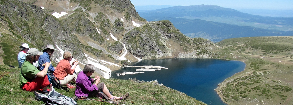 Photo of the Seven Lakes Basin in the Rila Mountains of Bulgaria
