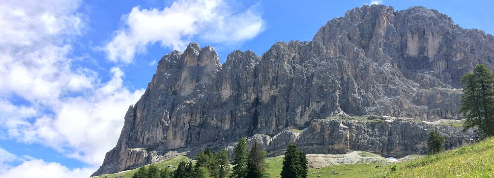 Rosengarten group from Angelwiesen, Val de Tires, Dolomites, Italy