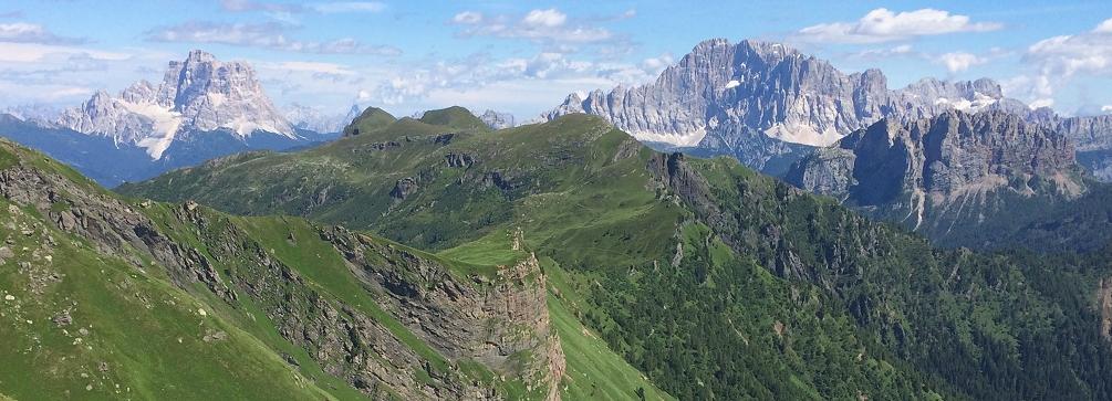 Bindelweg view, Pelmo and Civetta, Dolomites, Italy