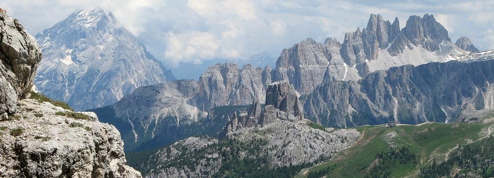 Croda da Lago from Lagazuoi, Dolomites of Italy