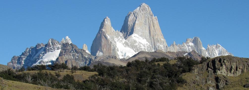 Monte Fitzroy as seen from Pampa de las Carretas, Patagonia, Argentina