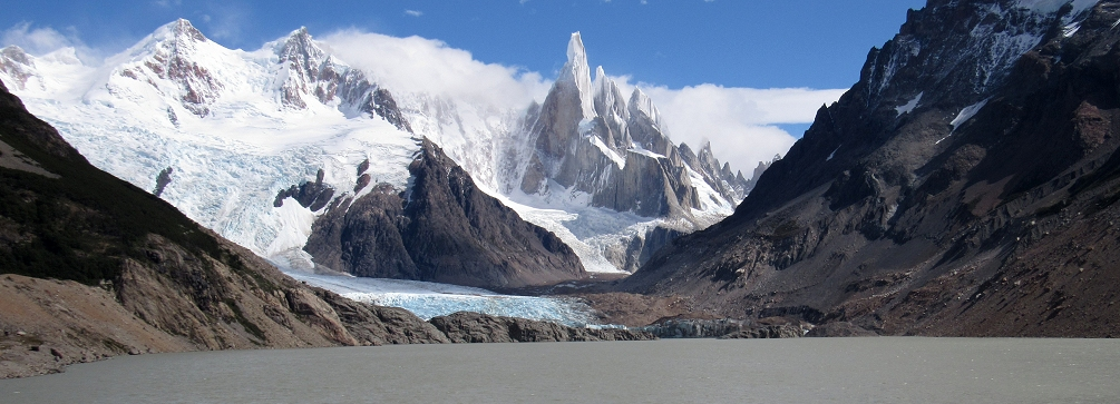 View from the foot of Laguna Torre, Patagonia, Argentina