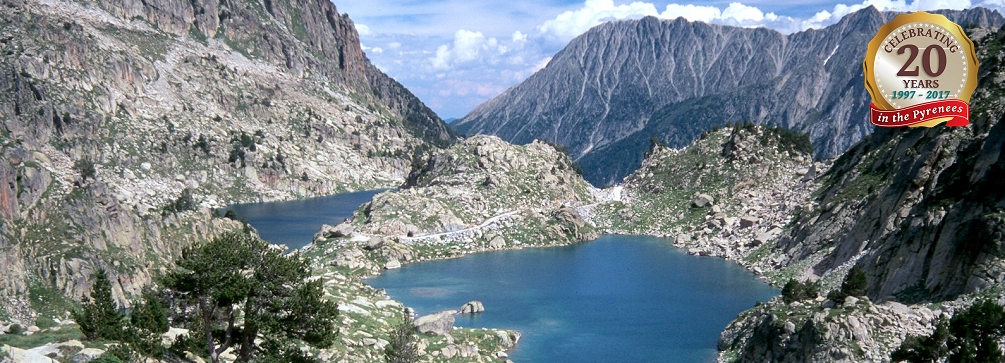The lakes known as Estany dels Barbs and Estany Gran d'Amitges, Aigues Tortes National Park, Spanish Pyrenees