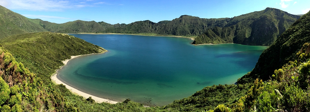 Lagoa do Fogo (Fire Lake) on São Miguel island in the Azores