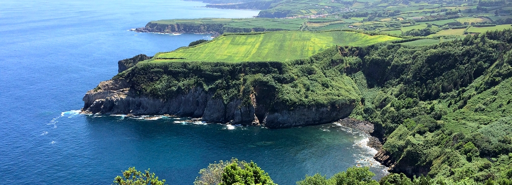 A view of the north coast of São Miguel island in the Azores