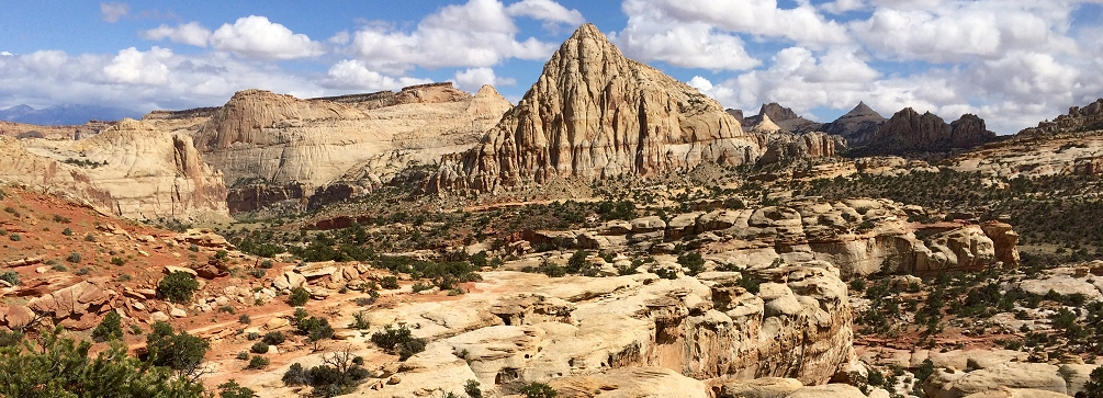On the trail to Navajo Knobs in Capitol Reef National Park, Utah