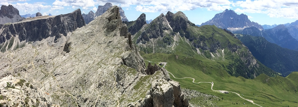 View from Rifugio Nuvolau, Dolomites of Italy