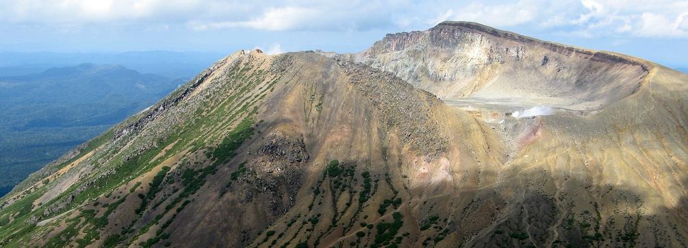Meakandake volcano as seen from Akan Fuji, Akan National Park, Hokkaido, Japan