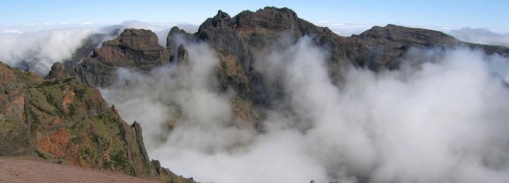 Mountains of Madeira from Pico do Arieiro