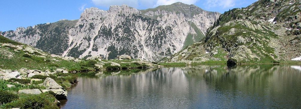 One of the lakes knows as the Mirrors of Frisson, Maritime Alps of Italy