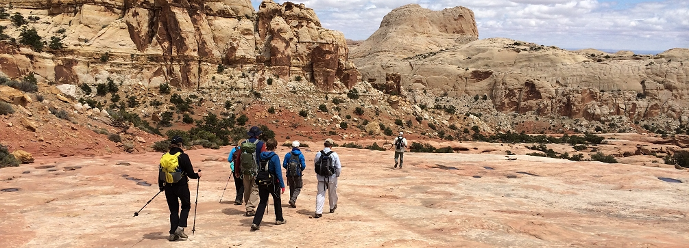 Trail to Navajo Knobs, Capitol Reef National Park, Utah
