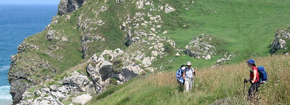 Hiking the coastal path near Llanes, northern Spain
