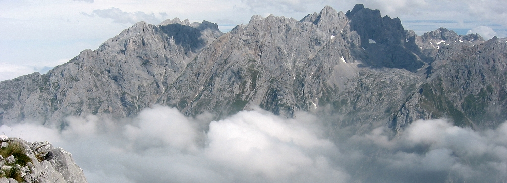 View of the Urrieles massif, Picos de Europa, northern Spain