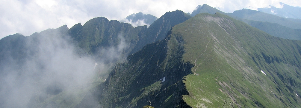 The Fagaras Main Ridge as seen from Vistea Mare, Romania