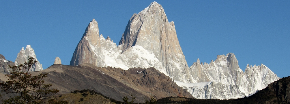 Mount Fitzroy as seen from the hike to Pliegue Tumbado, Patagonia, Argentina
