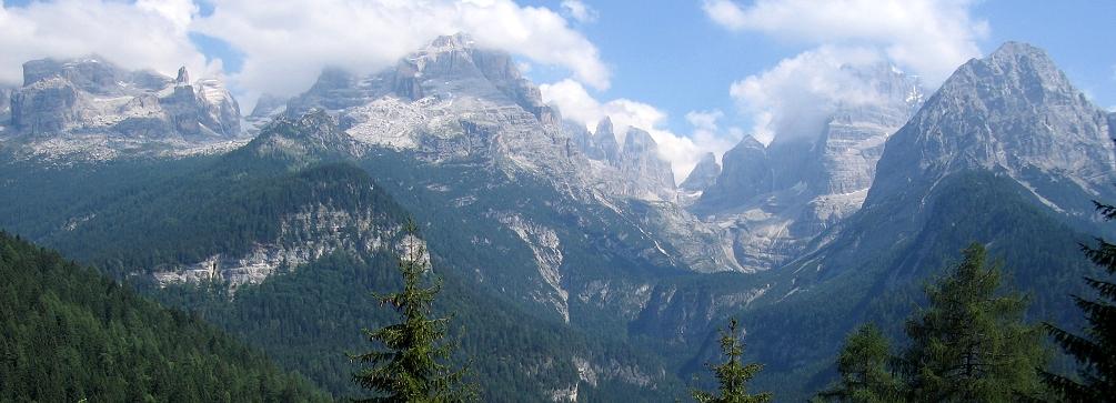 View of the Brenta Dolomites (Dolomiti di Brenta), Dolomites of Italy