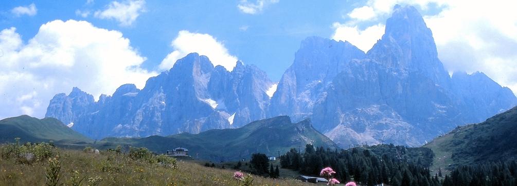 View of the Pale di San Martino, Italian Dolomites