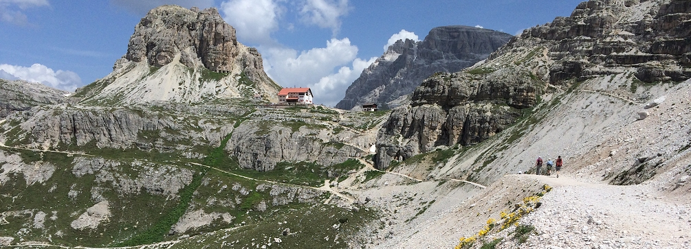 Hiking to Rifugio Locatelli in the Sesto Dolomites of Italy